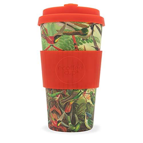 Ecoffee Cup Yo 'twitches 453,6 Gram Motif géométrique | réutilisable en Bambou Tasse à café