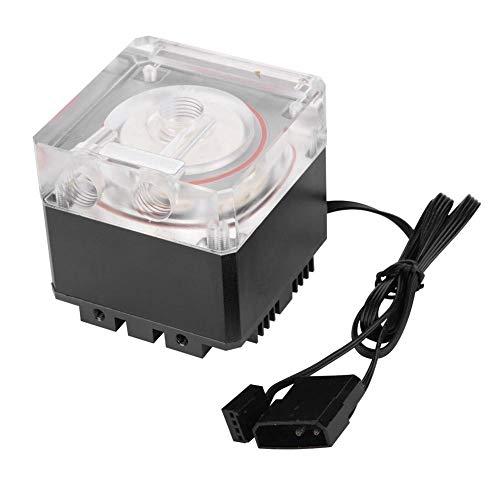 Pompa Acqua per Computer, ASHATA Pompa per il Raffreddamento ad Acqua Ultra Silenziosa a 3000 giri / min Dissipazione Rapida Calore, Portata 800L / H 3,5 Metri per PC Raffreddamento ad Acqua(nero)