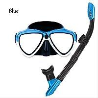 Gafas De Buceo Tubo De RespiracióN Adultos Secado Completo Traje De Snorkel , blue , A