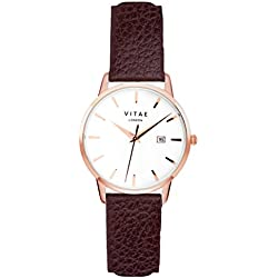 Brown/Rose Gold Kleinskool 34mm Watch by Vitae London