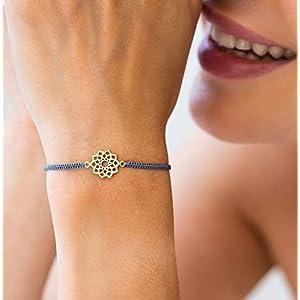 Armband Stern Mandala Silber vergoldet Geschenk