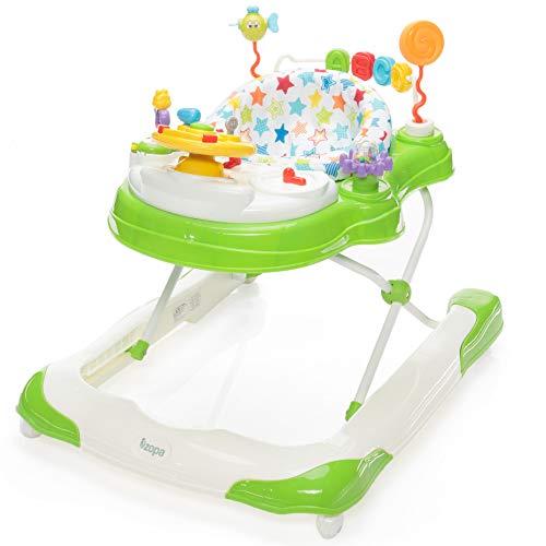 ZOPA Lauflernhilfe SPEEDY 3in1 - wanderer, walker für Kinder ab 6 Monaten bis 12 kg (Green)
