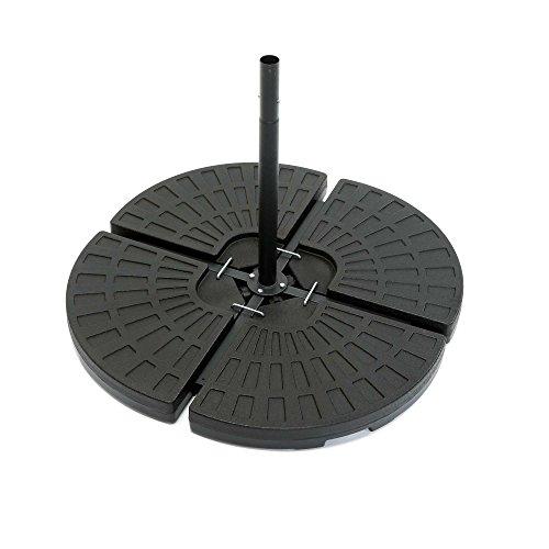 ToCi 4 x Sonnenschirmständer - Gewichte im Set | Element je 48.5 x 48.5 x 7,5 cm | zum Befüllen mit Sand/Wasser und bis zu 70 kg