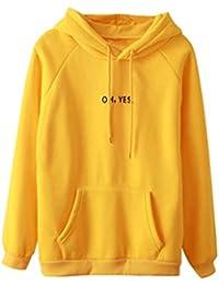 Mujer Blusa sudaderas tops otoño casual urbano streetwear,Sonnena Sudadera casual de manga larga con estampado de piña y cuello redondo para mujer con capucha