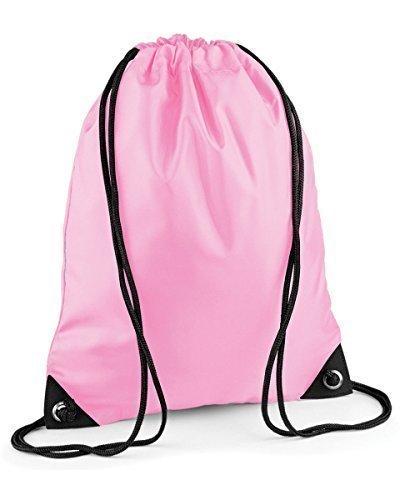 School Drawstring Book Bag Sport Gym Swim PE Dance Girls Boys Kids Backpack#Soft Pink