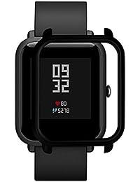 Squarex Slim bunter Rahmen für Huami Amazfit Bip Youth Uhr, Polycarbonat Hülle, Schutzhülle, Schutz, Hülse