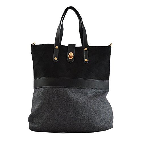 Lookat Frauen-Handtasche in PU-Leder mit Schulterriemen 40x40x13 Cm Lookat TBSIVVmQp