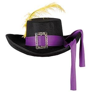 Boland 04022 - adultos sombrero de mosquetero, tamaño estándar, negro/púrpura