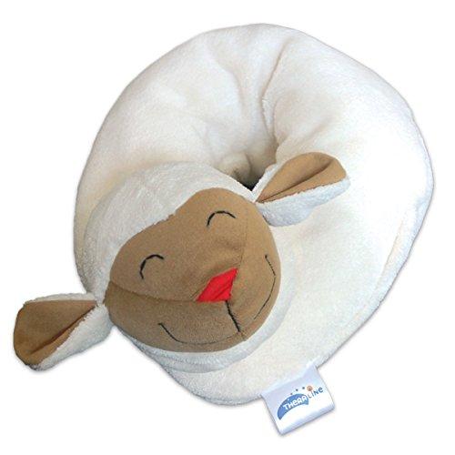 Preisvergleich Produktbild Theraline 78019002 Nackenkissen im Tierdesign Schaf groß, 85 x 15 cm