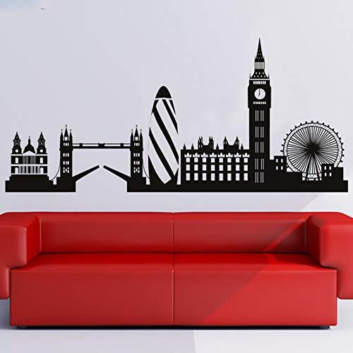 guijiumai London Skyline Wandaufkleber Big Ben Wahrzeichen Wandtattoo Beatuful City Building Wohnkultur Wandkunst Wanddekoration 8 121 cm x 58 cm