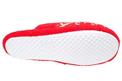 gibra, Pantofole donna 41 Rosso (rosso)