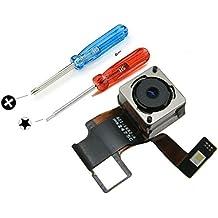 Repuesto de cámara trasera/posterior para Iphone 5 (A1428 A1429 A1442). Cámara trasera de 8 megapíxeles con flash de auto-enfoque - Color Negro. Incluye 2x destornilladores para una fácil instalación. MMOBIEL