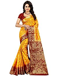 Dealsure Women's Banarasi Cotton Silk Saree With Blouse Piece (DS-S8446-05_Multicolored)