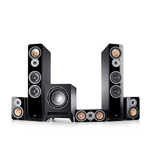 Teufel Ultima 40 Surround 5.1-Set (2017) Schwarz Film Subwoofer Lautsprecher Movie Musik Raumklang Sound Heimkino DTS HD Komplettanlagen 5.1 Soundanlage