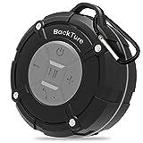 Dusche Lautsprecher Backture Wasserdicht Bluetooth Lautsprecher IPX7 Portable Mini Wireless Outdoor Lautsprecher mit Saugnäpfen,Mikrofon,Freisprecheinrichtung (Grey)