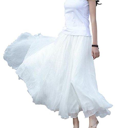 jupemalloom-femmes-taille-elastique-en-mousseline-de-soie-robe-de-plage-long-maxi-blanc