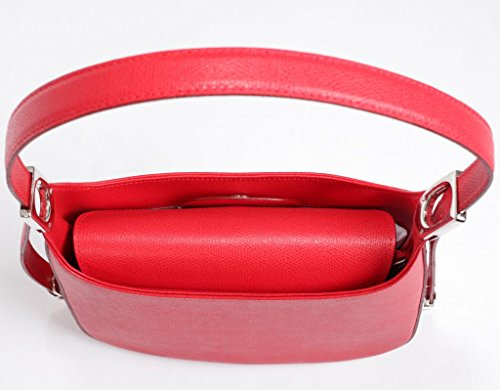 Custodia in pelle JOSYBAG ASCONA in pelle foderato con 3-scomparto tracolla regolabile MONDO classe Rosso (rosso)