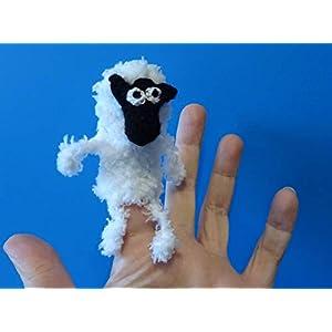 Fingerpuppe Schaf Schäfchen handgemacht, Geschenkidee Puppenspiel