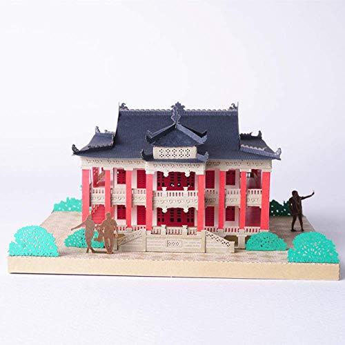 Schreibtischlampe Nachttischlampe Buchlampe DIY Büttenpapier Carving 3D Kreative Architekturmodell Dekoration Kreatives Handwerk