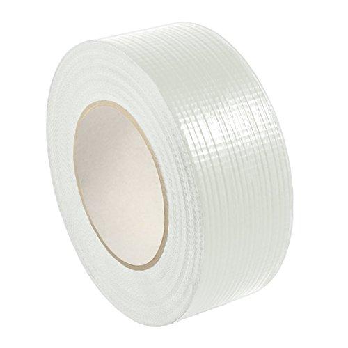 Gewebeklebeband stark klebend | Gewebeband aus PE | Handreißbar | Weiß, Schwarz oder Silber | 50 m | Breite wählbar | Panzertape/weiß 25 mm x 50 m