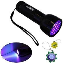 HQRP Profesional Linterna 51 LED UV Ultravioleta 390 nM Antorcha lámpara más HQRP Medidor del sol