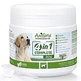 AniForte 4 en 1 Polvo completo para perros 250g - Polvo natural para articulaciones, cuidado integral para perros, sistema inmunológico, piel, pelaje, actividad gastrointestinal con alta aceptación
