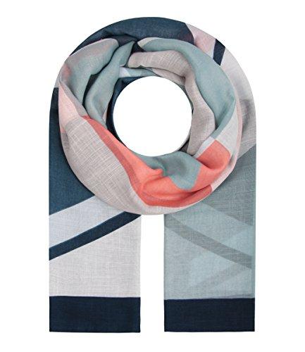 Damen Tücher (Majea Damen Schal XXL Tuch Neue Herbstkollektion Schals und Tücher mit Muster (navy 19))