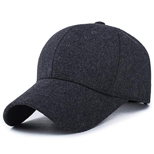 ZJWP Hat Men's Winter Fashion Baseball Cap Female hat Autumn and Winter Wool Cap Adjustable_Light Board Gray -