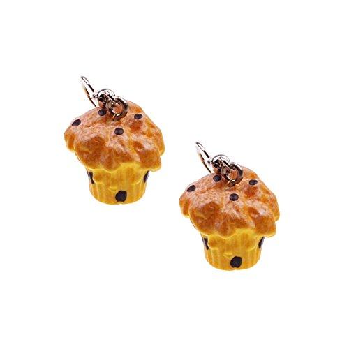 Snykk Süßigkeiten und Gebäck Ohrringe verschiedene Sorten, Farbe:Muffin