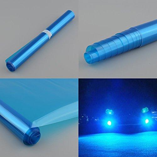Auto Scheinwerfer Folie Tönungsfolie Aufkleber 120cm x 30cm Blau