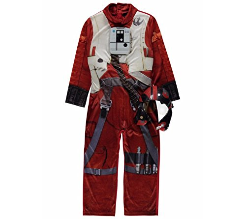 Fancy Dress George Star Wars X-Wing Rebel Pilot Costume + Mask 3-4 Years