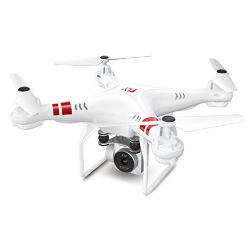 Spielzeug Helikopter,Jaminy 2.4 G Höhe Hold HD Kamera Quadcopter RC Drohne Wifi FPV Live Hubschrauber Schweben Mit 360-Grad-Flip (Weiß)