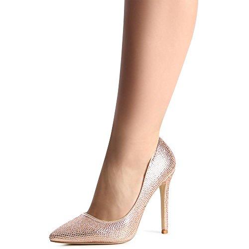 topschuhe24 , Escarpins pour femme Rose Gold