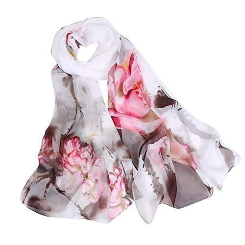YWLINK Mode Blumen Drucken Strand Damen Schal Langer Weicher Wickelschal Mehrzweck Schals Pashminas Klassisch - Weltkrieg 2 Frauen Kostüm