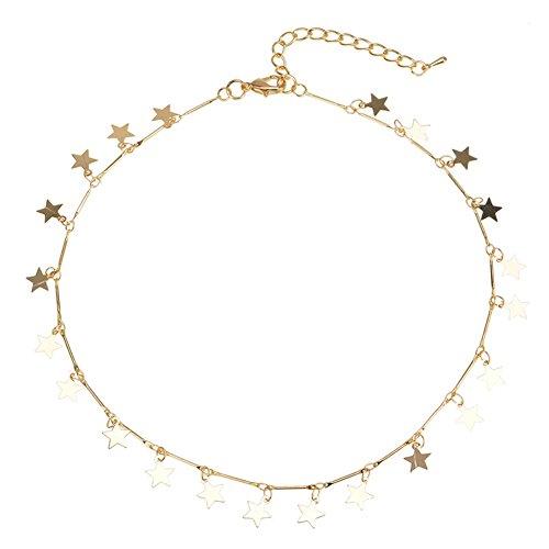 Damen Modeschmuck Stern Stern Halskette Mädchen Kette Halskette Weiblichen Stern Halskette
