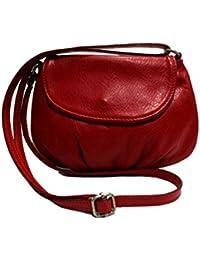 CHLOLY Petit sac cuir femme Adriana - Rouge Clair FIzGEx