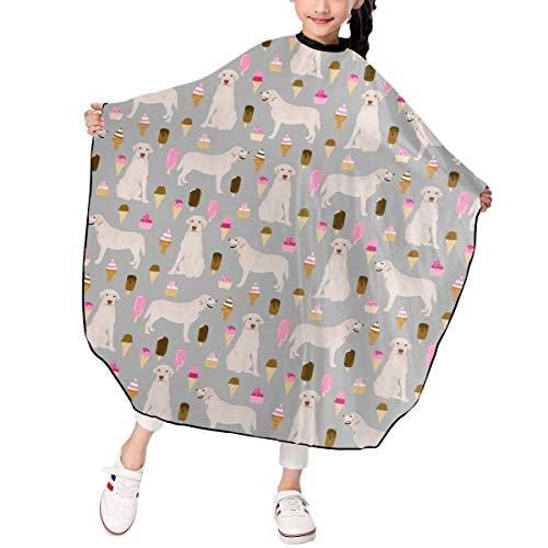Kleinkind Food Kostüm - Ice Cream Food Silver White Labrador Dog Barber Hairdresser Stylist Haircut Salon Hair Stylist Hairdresser Haircut Cutting Kid Children Decor Decorations Ornament Printed Theme