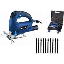 Einhell BT-JS 650 e Kit -Set caladora (pendular, guía paralela, accesorios incluidos: 5 hojas para corte recto madera, 5 hojas para corte curvo madera)