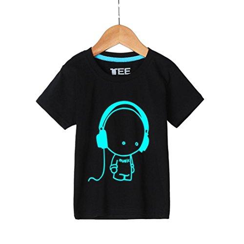Kinderkleidung Jungen,Binggong Sommer Familie Kinder Jugend und Vater Headset Kurzarm Fluoreszenz T-Shirt Kleidung Familienspiel Outdoor Sport Kurzarm (XL, Vater) (Kleidung, Tag Vater Baby,)