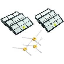 MaxDirect Kit Recambios de 6 Filtros y 3 Cepillos de 3-Armado para iRobot Roomba