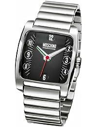 Moschino MW0007 - Reloj analógico de cuarzo para hombre con correa de acero inoxidable, color plateado