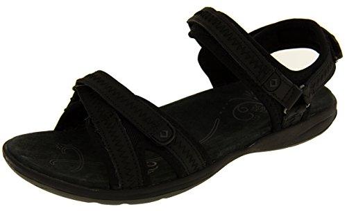 Northwest Territory Louisiana Sangle Velcro Ajustables Sandales de Randonnée Femmes Noir