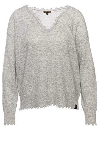 True Religion Pullover Cropped V-Neck für Damen Grau XS