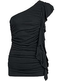 Fashion Victim Gathered Top Top Une Bretelle Femme noir