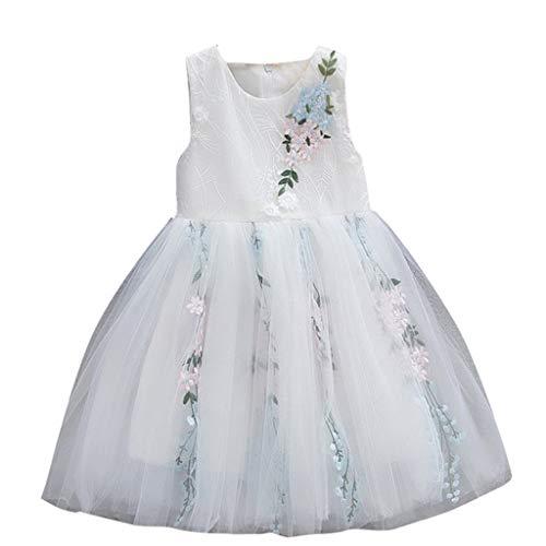 r Kleider Suit Baby Mädchen Tüll Kleid Outfits Kleidung Druck T-Shirt Tops + Floral Rock Partykleid Trikot Tanzkleider Ballettkeider ABsoar (80cm / 6-12 Monate, Weiß) ()