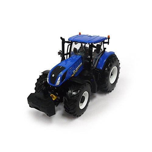TOMY Britains - New Holland, T7 315 - Kinder Traktor mit höhenverstellbarer Heckhydraulik und lenkbarer Vorderachse - hochwertiger Traktor für Kinder ab 3 Jahre