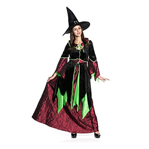 n-Kostüm Deluxe Damen Halloween-Kostüm Hexe Größe 38 (Hexe Kostüm Deluxe)