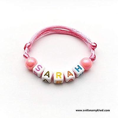Bracelet avec Prénom SARAH (réversible, personnalisable) homme, femme, enfant, bébé, nouveau-né.