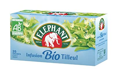Elephant Infusion Tilleul Bio 25 Sachets 32,5 g