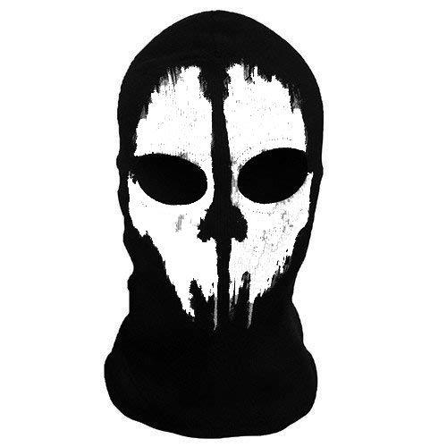 'Slaughter'2 fori, in lana, per travestimento Ninja Costume da 1, misura Senior, passamontagna, Maschera da teschio fantasma moto Casco da sci a collo alto con cappuccio Sport-Maschera Halloween Horror